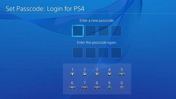 PS4-passcode