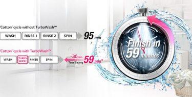 Εξοικονόμησε χρόνο για εσένα με τα πλυντήρια LG Turbowash