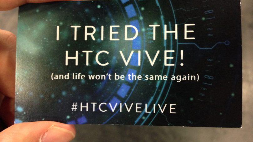 Μόλις δοκιμάσαμε το καλύτερο σύστημα εικονικής πραγματικότητας που έχει πέσει στα χέρια μας. Και στα μάτια μας. #gamescom #HTCVive #SteamVR