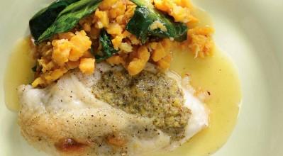 Ελάτε σπίτι μας για ψητό κοτόπουλο με μουστάρδα, γλυκοπατάτες και σπανάκι