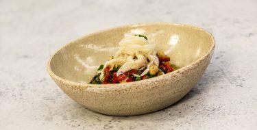 Σαλάτα με ρεβίθια και μαρινάτο μπακαλιάρο – Κουζίνα: Μαζί με τον Ανδρέα και την Ελένη