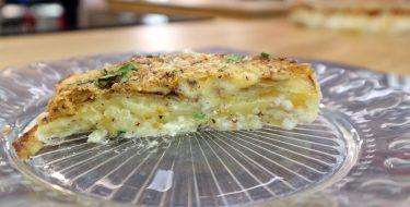 Πατάτες ογκρατέν με μπλε τυρί & φιστίκια Αιγίνης – Chef στην Πρίζα