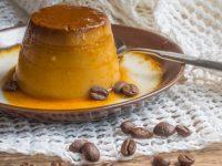 Φλαν tres leches με αρώματα καφέ και πορτοκαλιού