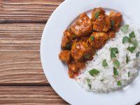 Πικάντικο κοτόπουλο με ρύζι