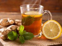 Τσάι μέντας με τζίντζερ και λεμόνι