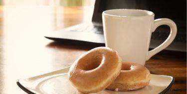 Λουκουμάς με γλάσο καφέ