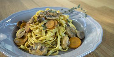 Ταλιατέλες με μανιτάρια Bourguignon – Γιώργος Τσούλης – Chef στην Πρίζα